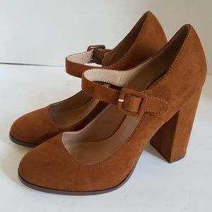 Mix No. 6 Womens Brown Suede High Heeled Pumps 8.5